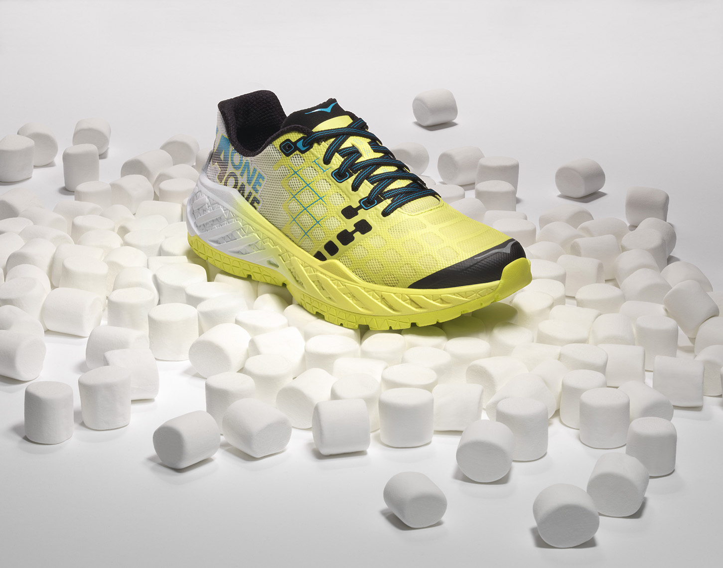 hoka one one marshmallow soft running shoe