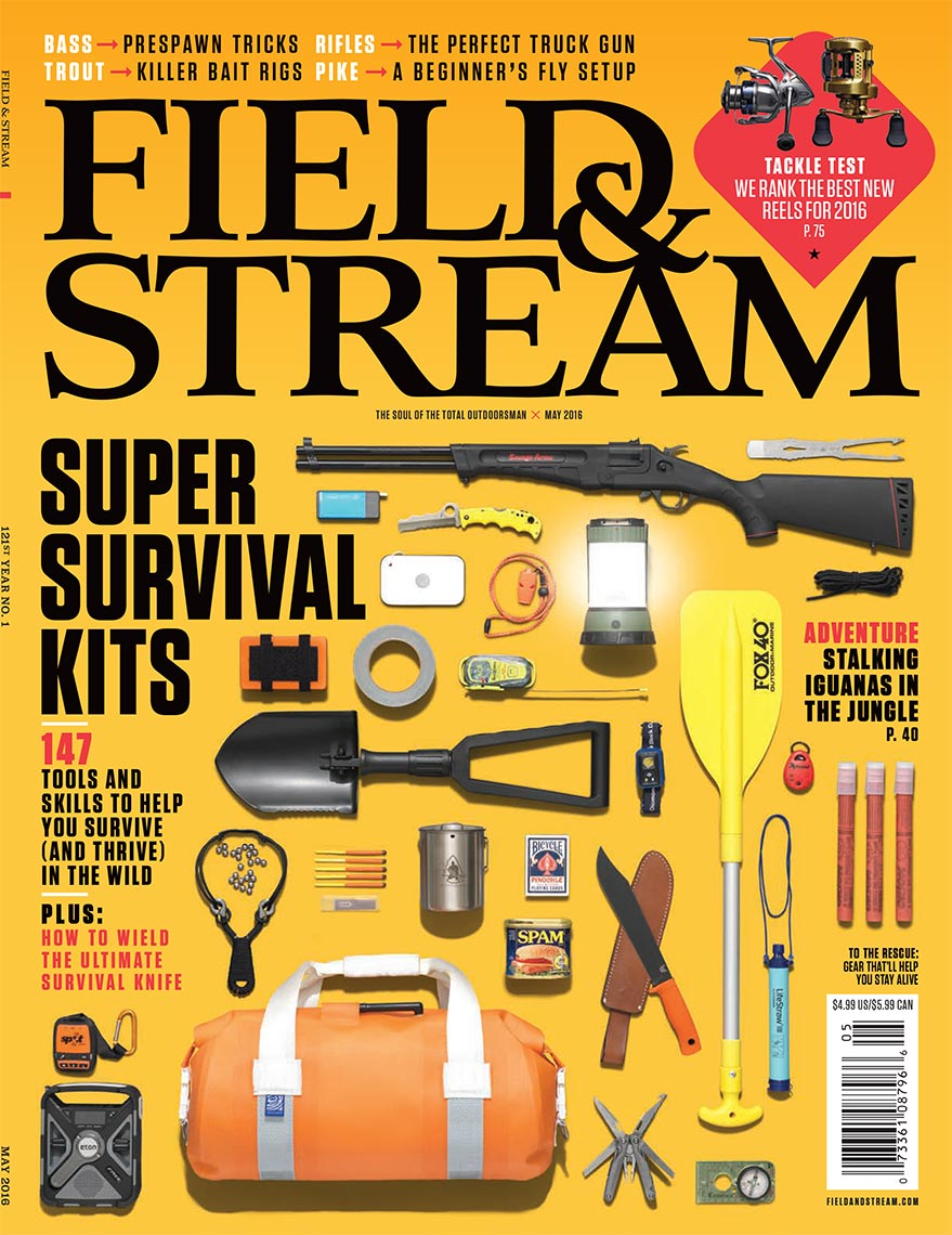 Field and Stream ultimate survival gear magazine cover