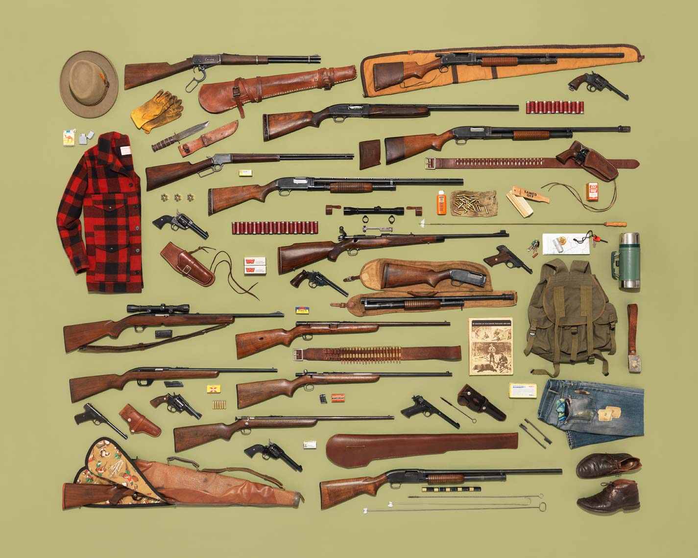 vintage rifle and hunting gear collection