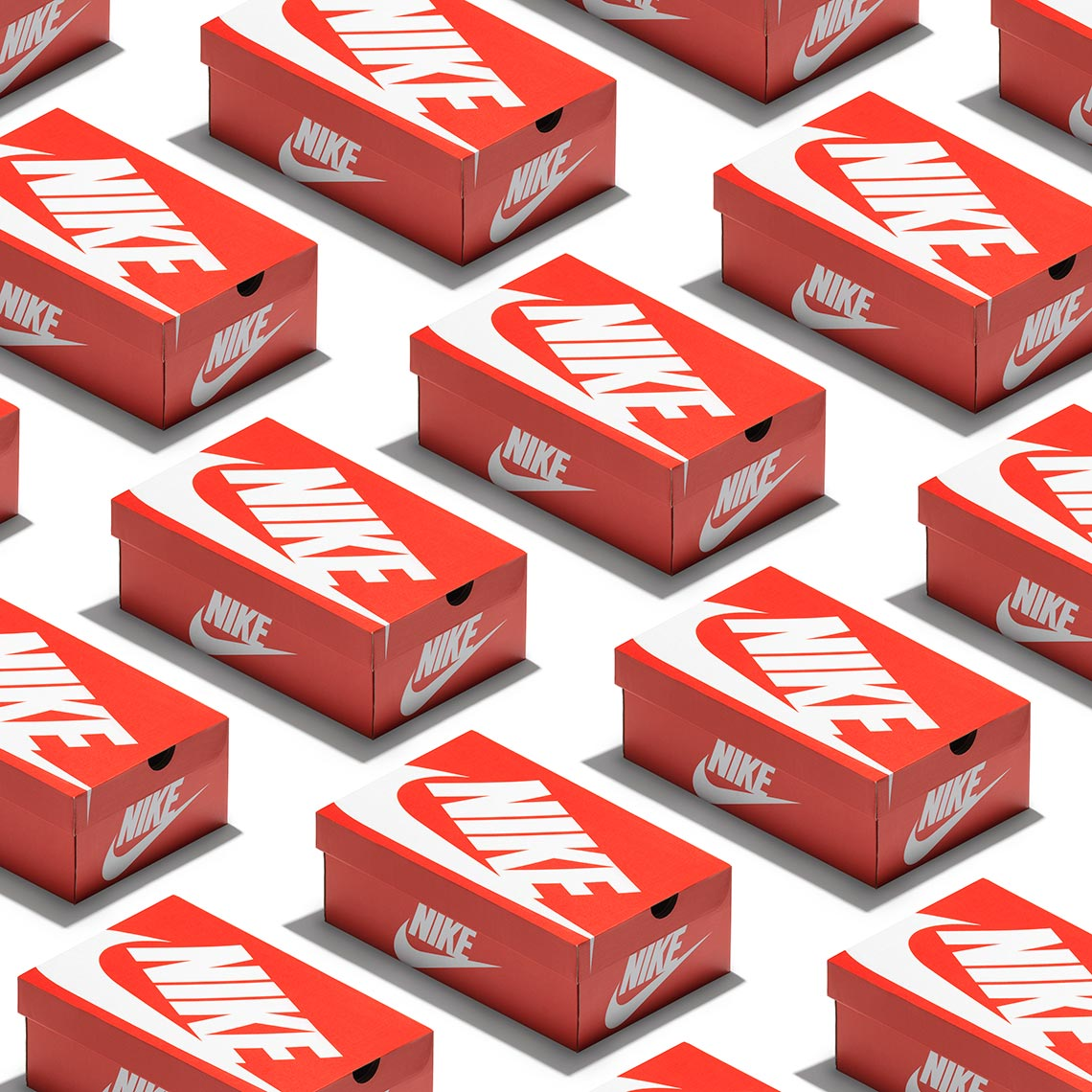 graphic pattern of nike shoe boxes
