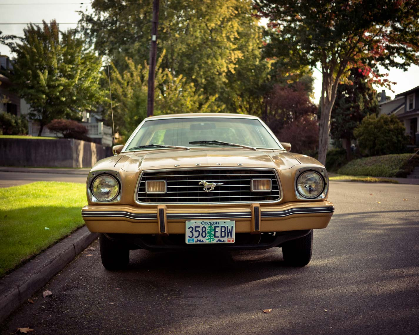 ford mustang two ghia edition gold