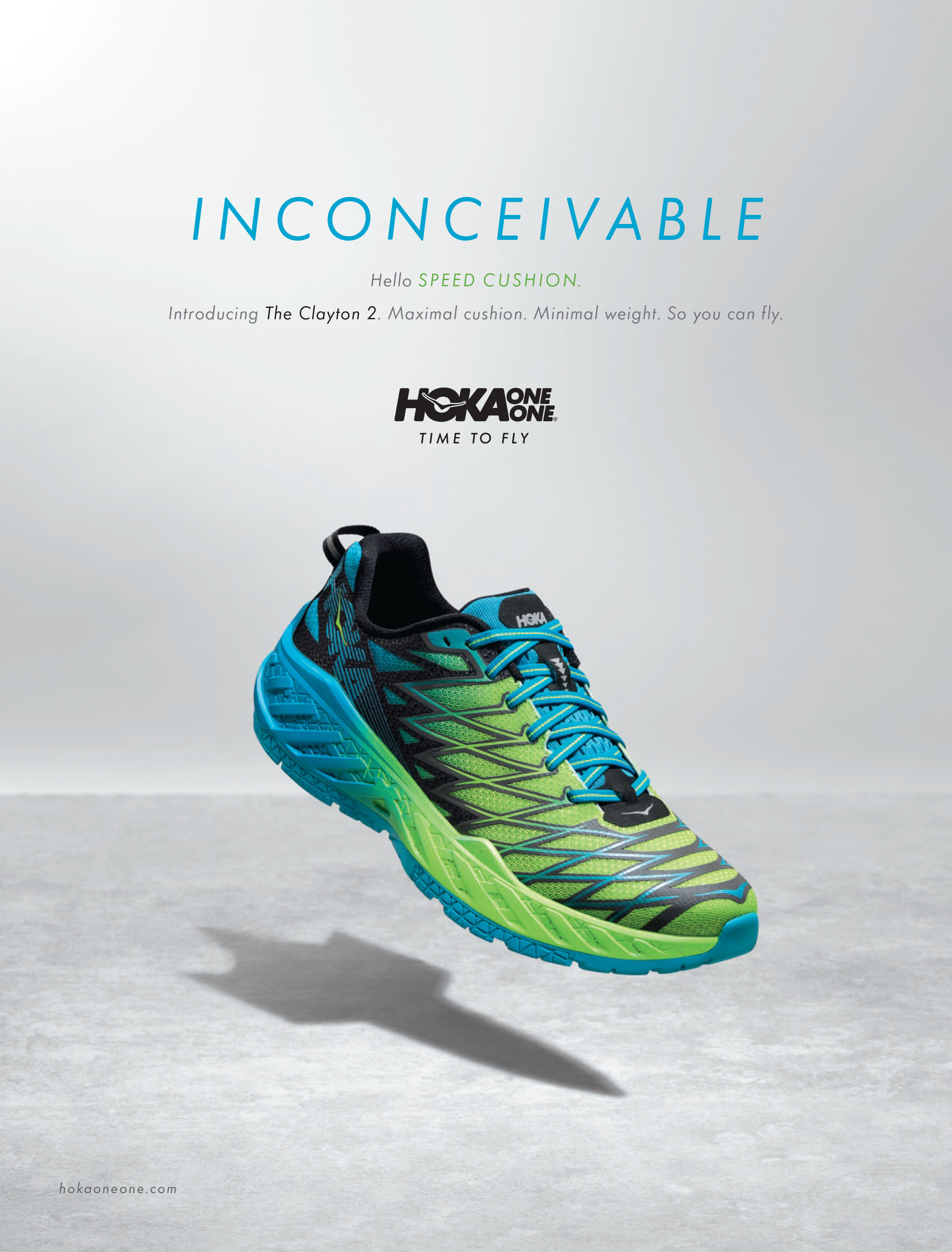inconceivable clayton 2 hoka one one running shoe green
