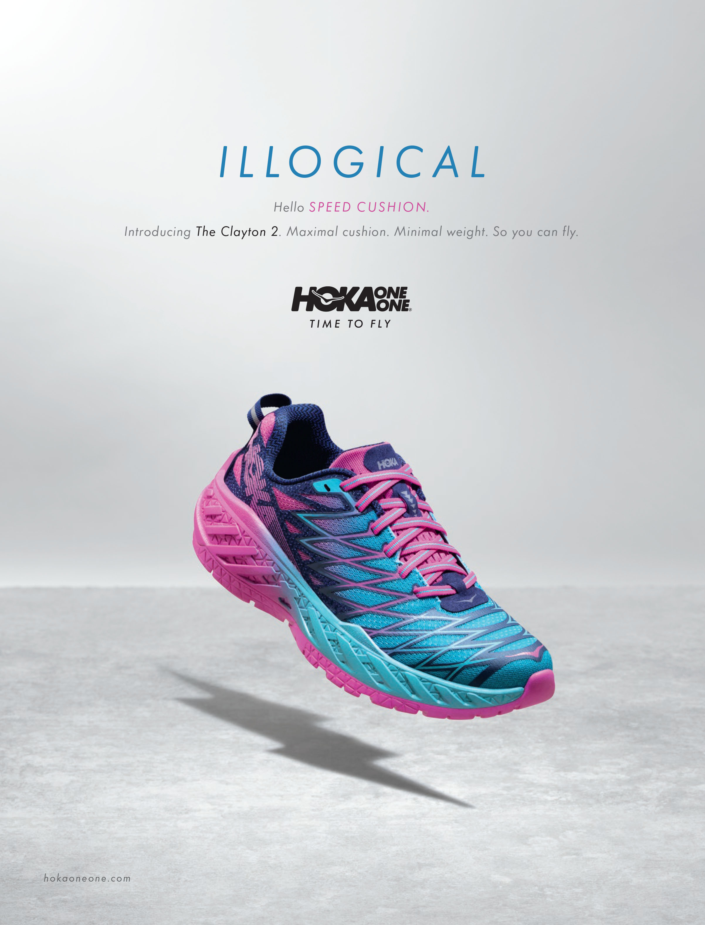 illogical fast hoka one one clayton 2 shoe