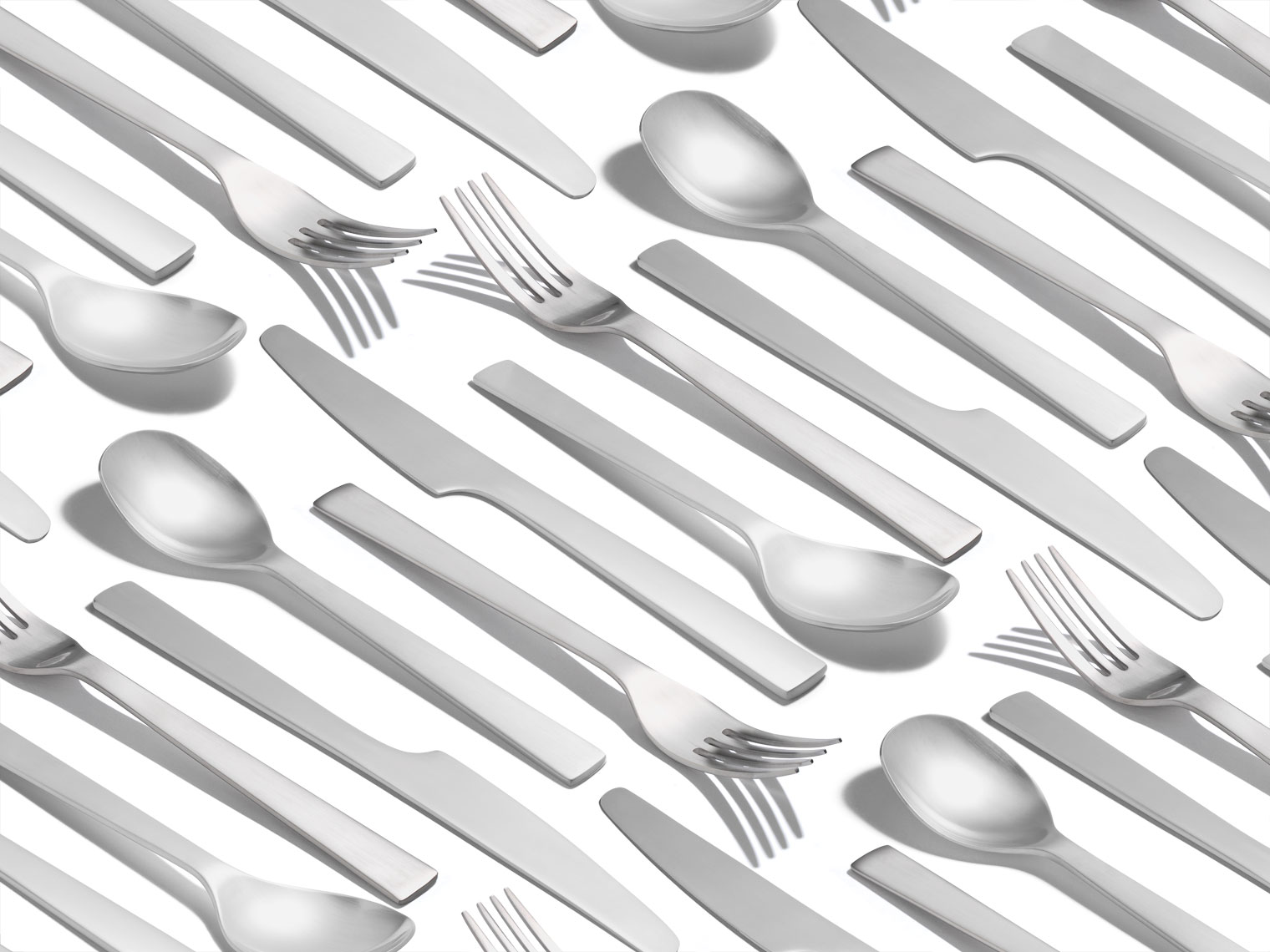fork spoon knife flatware in a pattern