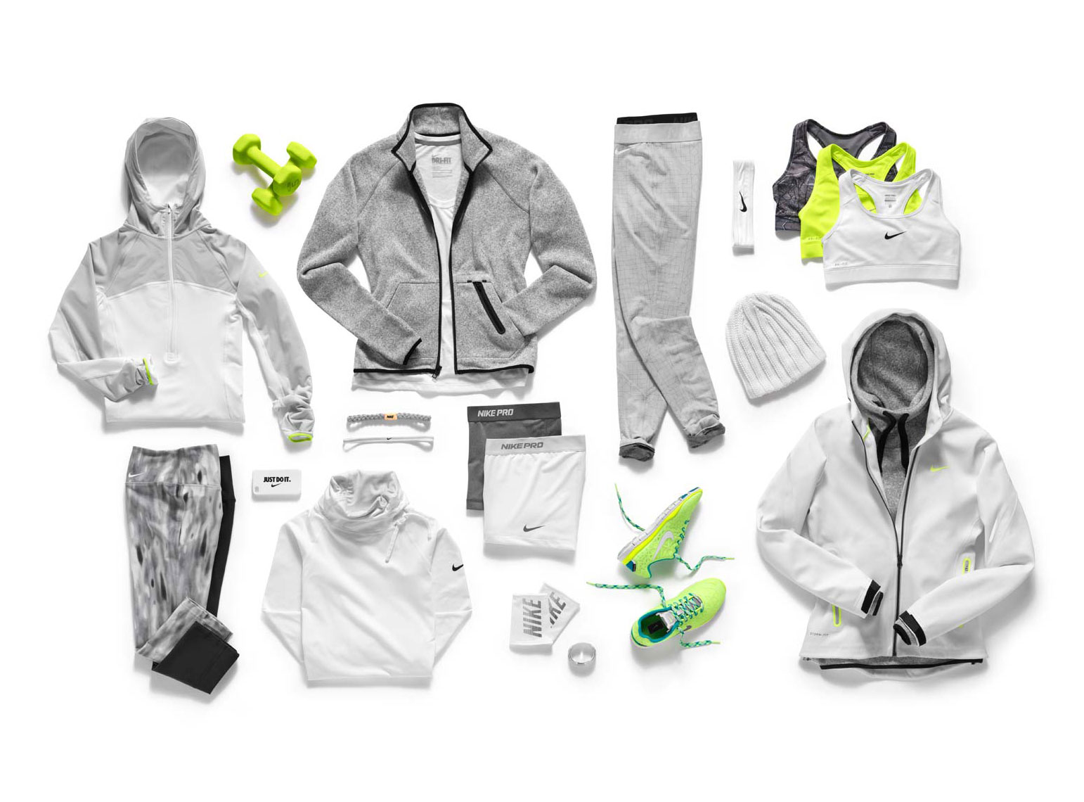 white and grey sportswear collection