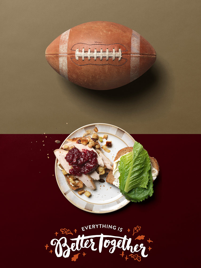 football is better with a turkey sandwich