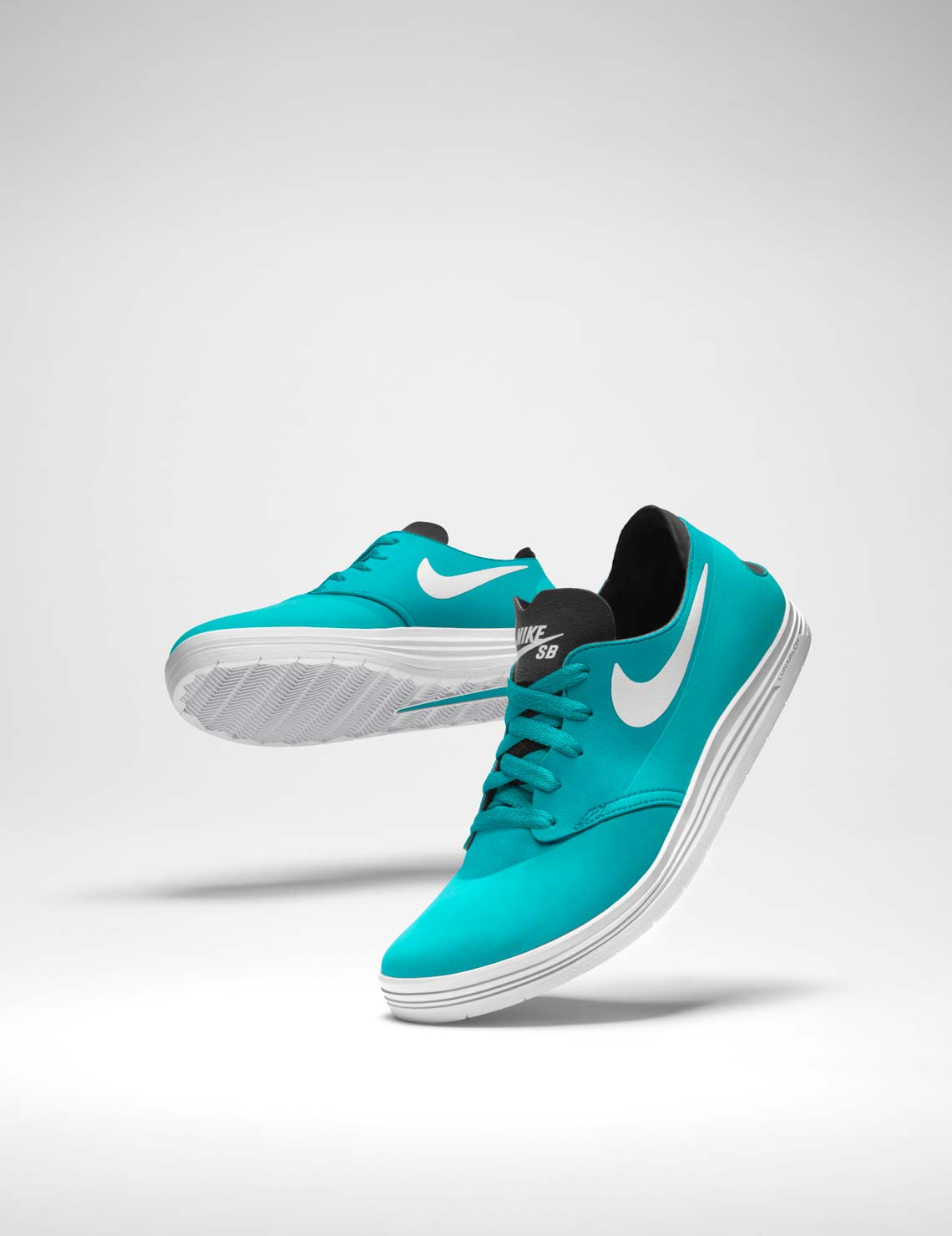 turquoise nikeSB one shot shoes skateboarding
