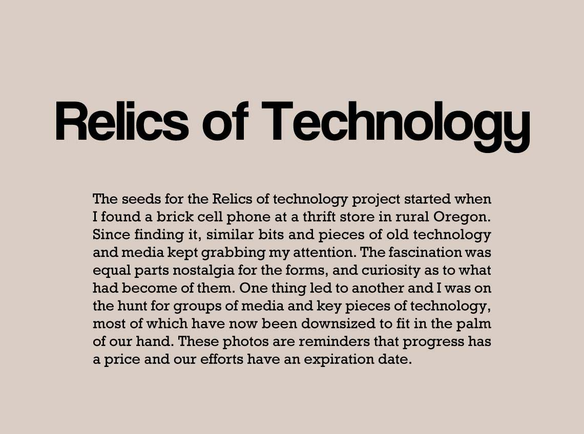 Relics of Technology artist statement