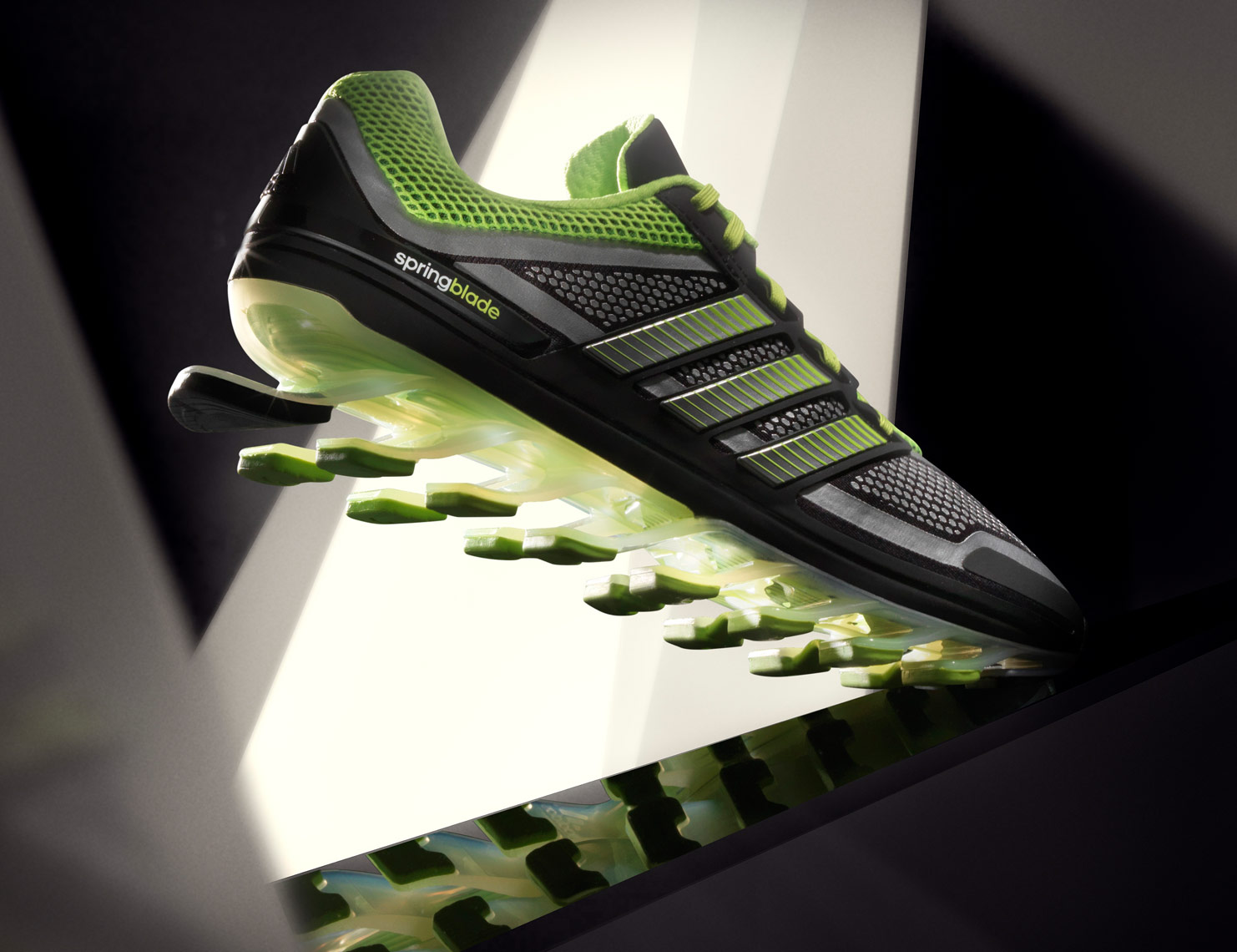 adidas Springblade_running shoe in futuristic background