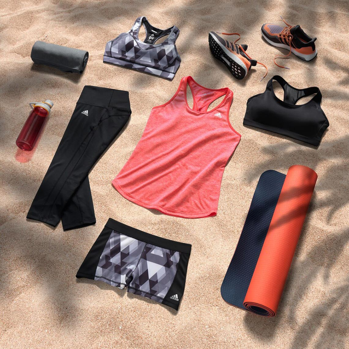 adidas yoga outfit on the beach