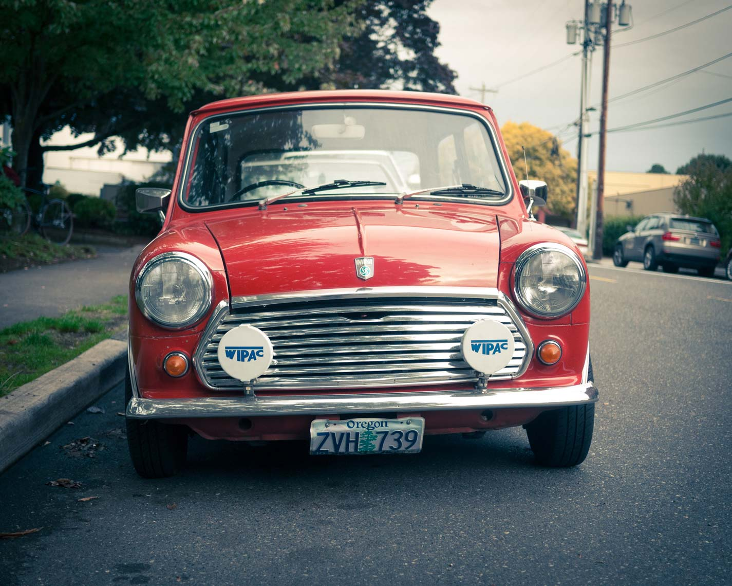 classic red mini cooper vintage original