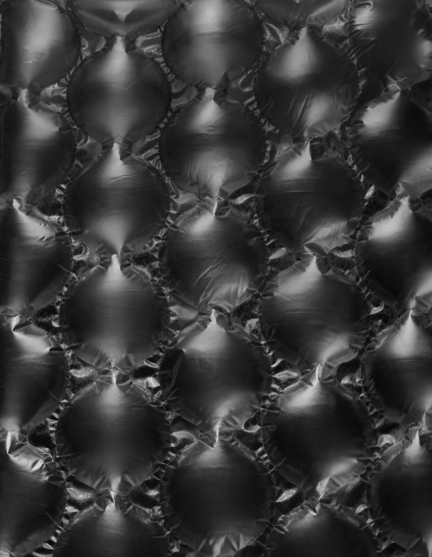 large bubble wrap on dark background