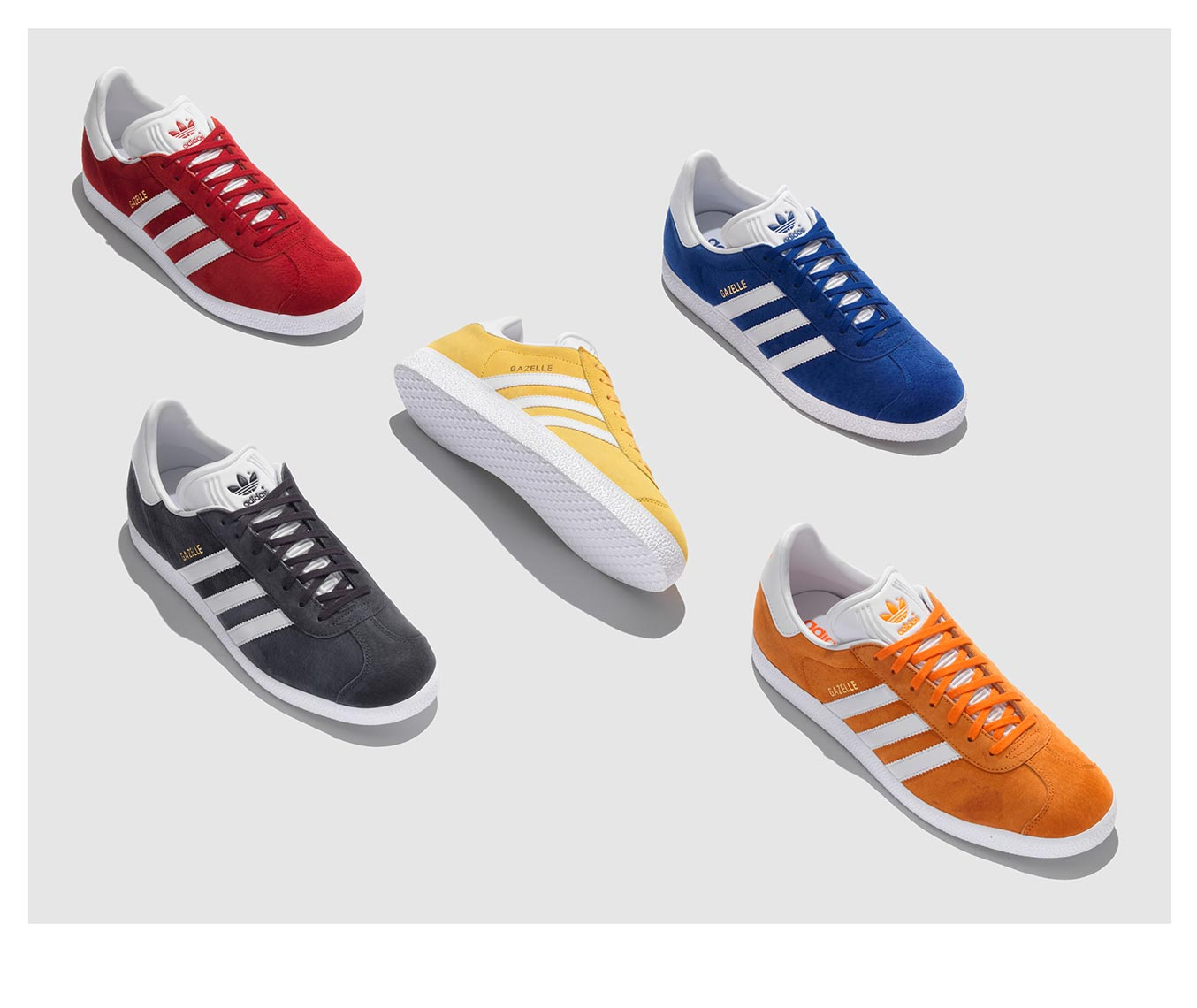 adidas gazelle colorful footwear pattern